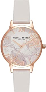 Olivia Burton Abstract Florals White Dial Ladies Watch OB16VM12