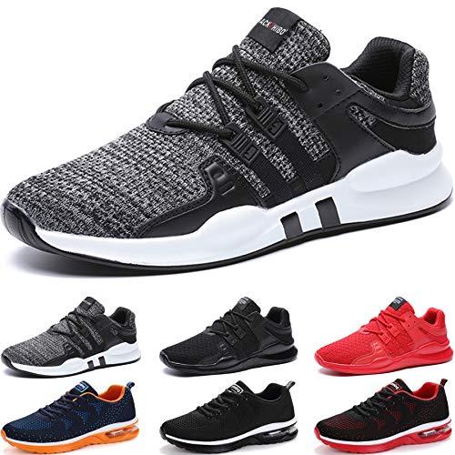 BAOLESEM Sportschuhe Herren Atmungsaktiv Gym Laufschuhe Leichtgewicht Turnschuhe Freizeit Outdoor Sneaker (Grau, Numeric_46)