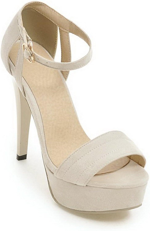 BalaMasa Womens Sandals High-Heel Huarache Urethane Sandals ASL04807