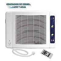 Generador de Ozono Doméstico de Aire y Agua Programable 8h. Elimina Virus, Ba...