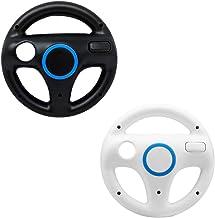 Mario Kart Wii Steering Wheels, ZOTAIN 2 Pack Mario Kart Wii Racing Wheels Compatible with Nintendo Wii, Wii U Racing Game...