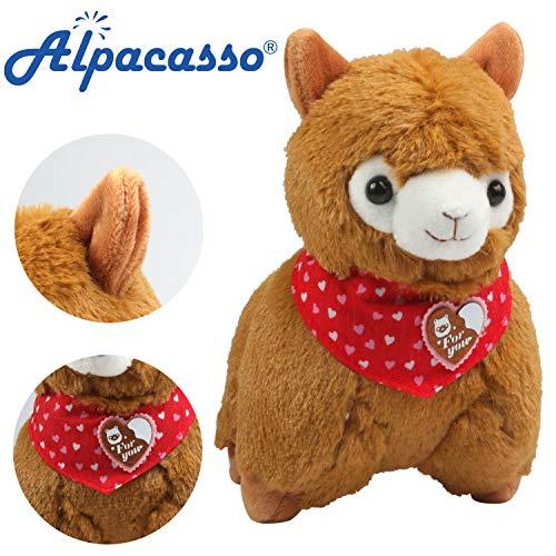 Alpacasso 6,7' Braun Plüsch Alpaka, süße weiche Kuscheltiere Spielzeug.