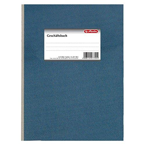 Herlitz 277004 Geschäftsbuch A4 liniert, 96 Blatt, 2 Spalten, Papier 80g/m² (2 Bücher)