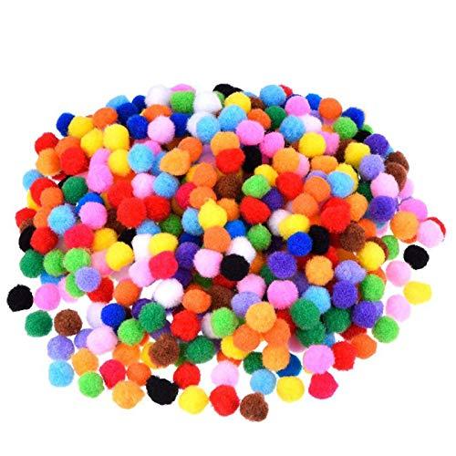 Xinlie Pompones de Bola Pom Poms del Craft Suave Fluffy Pom Poms Pompones Bolas de Pompones Coloridas Bolas de Fieltro de Lana Redondas de Colores Mixtos para Decoración de Muñecas,Manualidades1000PCS
