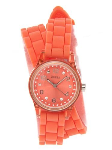 Guess Damen-Armbanduhr XS Analog Quarz Kautschuk W65023L4