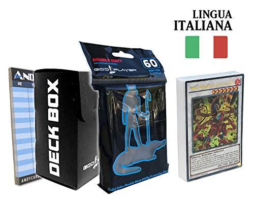 Andycards Structure Deck Maestro del Pendulum - Mazzo Yugioh SDMP in Italiano + 60 Bustine Protettive God-Player Nere + Deck Box Nero + Segnapunti