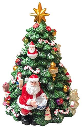 Floranova Spieluhr Weihnachtsbaum bunt drehender Christbaum mit Melodie Dekoration Weihnachten Geschenk (17 cm)