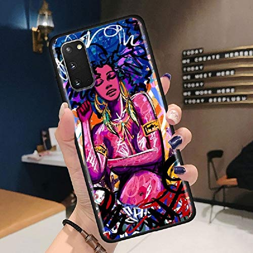 Black Girl Melanin Poppin Queen Phone Case for SS Galaxy S8 S9 Plus S10E S10 S20 Plus Ultra Note 8 9 10 20 Plus Ultra 5G (9, Galaxy Note 20 Ultra)