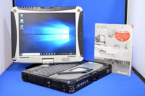 【Windows10 Pro 64bit/爆速SSDモデル/Microsoft正規MARライセンス/画面回転機能付き//新品純正スタイラスペン/正規Office 2003Personal】Panasonic TOUGHBOOK CF-19FW2BXS 無線LAN BlueTooth