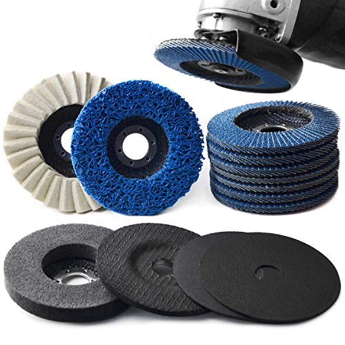 4.5 Inch x 7/8 inch Cut-Off Wheels & Flap Discs & Grinding Polishing Wheel...