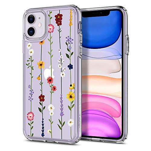 CYRILL Cecile kompatibel mit iPhone 11 Hülle, (2019) 6,1 Zoll Transparent Motiv Hart PC Back und Soft Silikon Bumper Handyhülle Durchsichtige Hülle - Blumen Garten