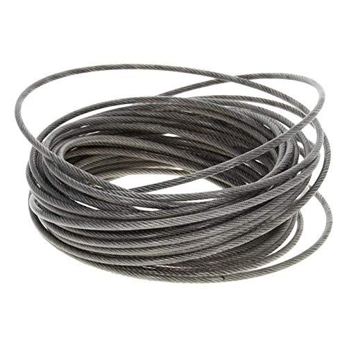 Cable Acero Trenzado,Cable De Alambre Alambre de cable de alambre flexible 304-Acero inoxidable Cuerda 1,2/3/5 mm Dia 5~10 m de elevación suave larga 1pcs cable Tendedero Cuerda De Acero Inoxidabl