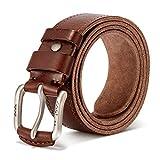 Vintage Genuine Men's Casual Leather Belt Causal Dress Belt Golf belt - Men's Belt Adjustable Trim...