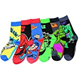 Jintong 6 Pairs Männer Socken Roman Comics Avenger Captain America Cartoon Socken Batman Superman Iron Man Hulk Socken Frauen Baumwolle Paar Sox
