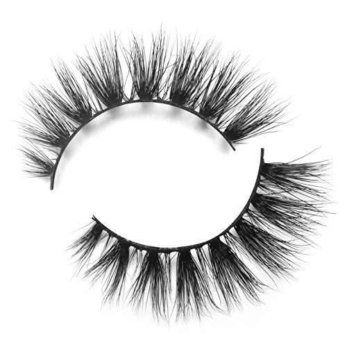 BEPHOLAN Mink Lashes| 100% Siberian Mink Fur Lashes| Natural Round Look| 3D Mink Lashes| 100% Cruelty-Free & Handmade| Reuseable False Eyelashes| XMZ08