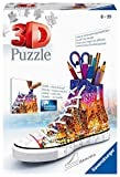 Ravensburger 3D Puzzle 11152 Sneaker Skyline - Praktischer Stiftehalter - 108 Teile - Schreibtisch-Organizer für Kinder ab 8 Jahren