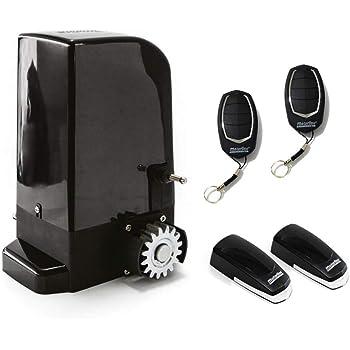 KIT Motor corredera Bravo 500 Kg, para automatizar puertas y cancelas correderas de uso residencial, parking, garaje, cochera, alta calidad con 2 mandos y sensor foto eléctrico de seguridad.: Amazon.es: Bricolaje y