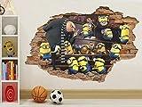 YFLDK Pegatinas de pared Etiqueta de la pared Etiqueta de la pared Mi villano favorito 3D...