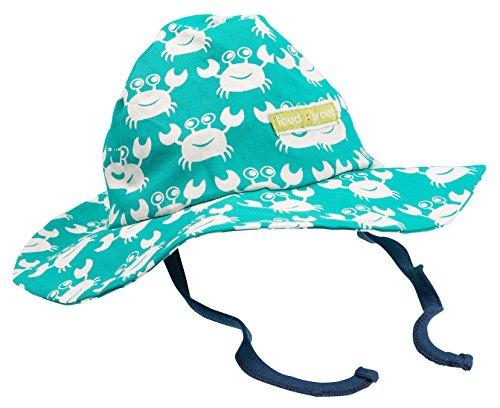 loud + proud Baby-Jungen Outdoorhut, aus Bio Baumwolle, GOTS Zertifiziert Sonnenhüte, Grün (smaragd) Sm, 43/45 (62/68)