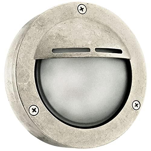 Cowl Aplique de Pared Exterior-Interior, Lámpara industrial de latón rústico, Lámparas plafón de techo, Impermeable ,Iluminación marina y de jardín (Níquel)