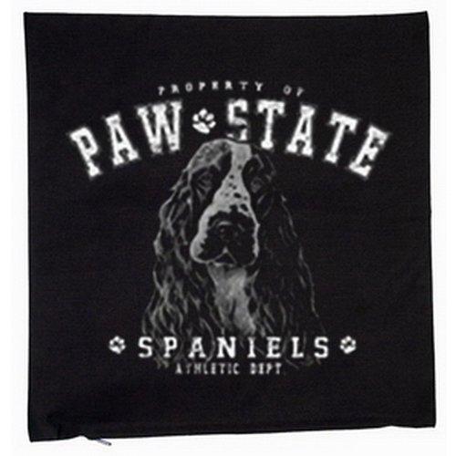 Cocker spaniel chien housse de coussin 40 x 40 cm (noir)