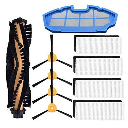 Nrpfell - Juego de paños de limpieza para filtro de cepillo, accesorios para Deebot N79S N79 RoboVac 11 11C Cecotec Conga Excellence 990 (10 piezas)