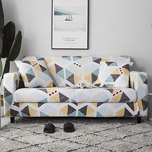 YYBF Funda de sofá Gris Fundas elásticas para Muebles Fundas de sofá elásticas para Sala de Estar Funda de Asiento con Funda Deslizante Sofá de Spandex 1-4 plazas, Color 22,4-Seater (235-300cm)