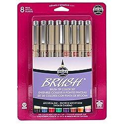 Sakura Archival Brush Pens, 8 Set, Assorted Colors, 8 Piece