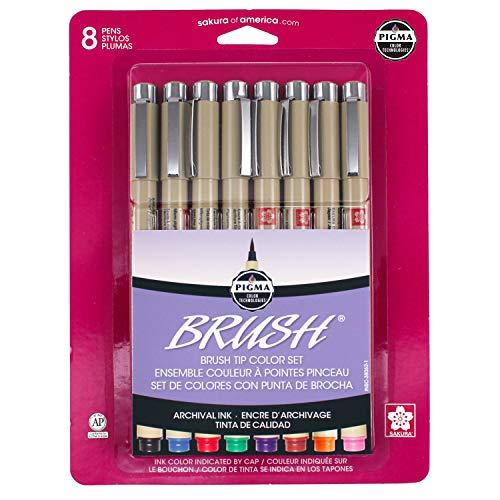 Sakura Archival Brush Pens (Colored Ink)