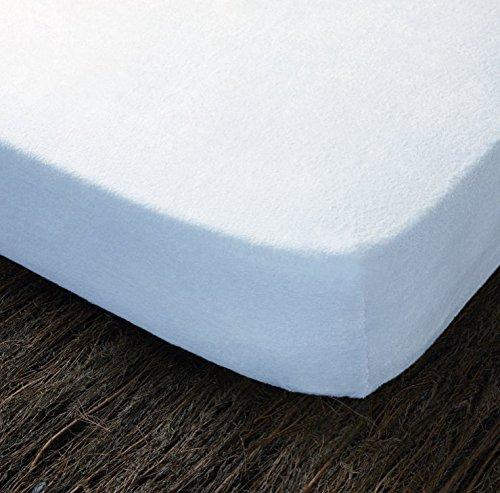Cotopur–coprimaterasso MOD. Mistral.Custodia di Materasso 100% Cotone Tessuto Spugna. Zip rafforzata. Bianco 135 x 190/200 cm