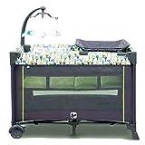 Kinderbett Laufstall, Tisch Wechseln Klassisch 100 × 76 × 78 Reisebett Laufstall Mit Matratze Und Tragetasche  - GrüN Blau