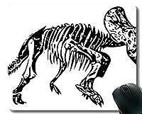 滑り止めのゴム製賭博のマウスパッド、ドラゴンのトリケラトプスのゴム製マウスパッド