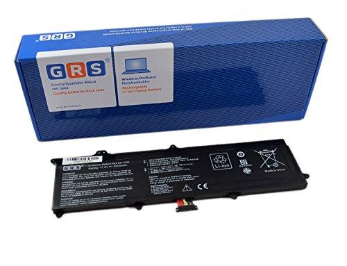 GRS Batterie d'Ordinateur Portable ASUS VivoBook X201E, E202E, R200, C21-X202, Laptop Batterie, 5000mAh, 7,4V