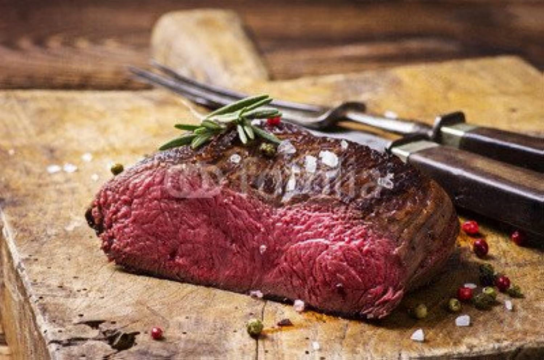 mejor calidad Lienzo de imagen 110x 70cm 70cm 70cm   venison Carne, imagen sobre lienzo  comprar descuentos