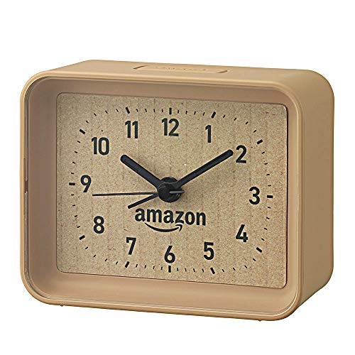 【Amazon.co.jp限定】リズム時計 段ボール風目覚まし時計 4SE555AZ06