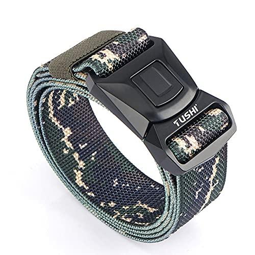 ZPMY Cinturón, cinturón de hombre multifunción, cinturón táctico de estilo militar de material de nylon