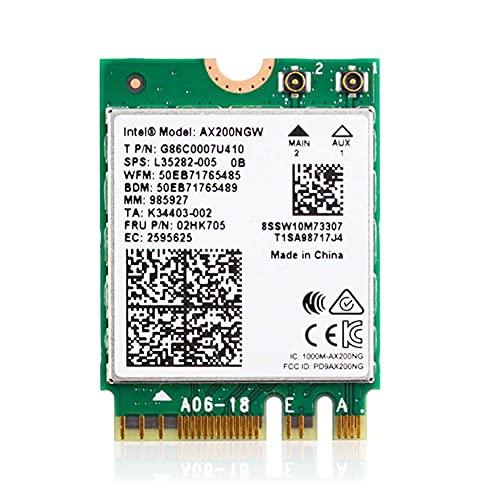 /G Wireless Dual Band 2974Mbps WiFi 6 Intel AX200 Bluetooth 5.0 Tarjeta de Red 2.4G / 5Ghz 802.11ac / AX AX200NGW WLAN MU-MIMO Adapter