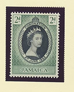 Jamaica Scott #153 - Queen Elizabeth II Coronation, British Commonwealth Common Design Issue From 1953 - Collectible Postage Stamps