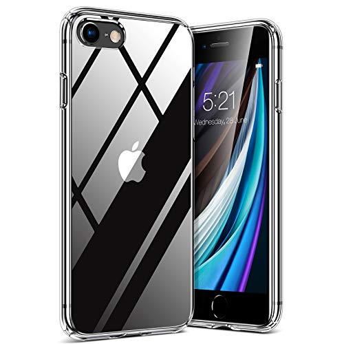 TORRAS Diamond Series für iPhone 7/8/SE 2020 Hülle [Vergilbungsfrei] Stoßfest iPhone SE Hülle/iPhone 8 Hülle/iPhone 7 Hülle Hülle Hard Back und Silikon Bumper Handyhülle iPhone 7/8/SE 2020 (Transparent)