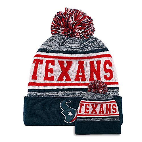 No/Brand Football Team Fans Winter Hats Cuffed Stylish Sports Beanie Hat with POM POM Toque Cap