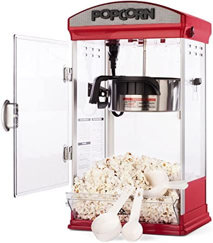 Carnus Home Popcorn Machine Features Popcorn Maker with Popcorn Scoop Measuring Cup Butter Spoon product image