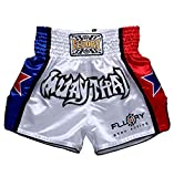 FLUORY Pantaloncini Muay Thai, MMA Pantaloncini Abbigliamento Training Cage Fighting Grappling Arti...
