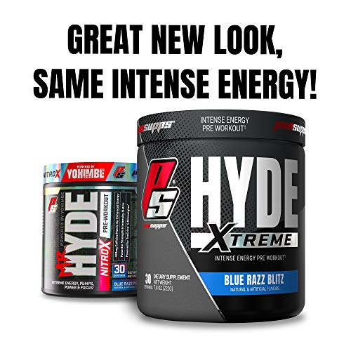 ProSupps® Mr. Hyde® NitroX Pre-Workout Powder Energy Drink - Intense Sustained Energy, Pumps & Focus with Beta Alanine, Creatine & Nitrosigine, (30 Servings, Blue Razz Popsicle)