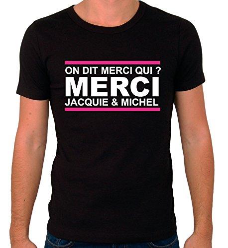 Fait main Tee Shirt Jacquie et Michel Taille XL marquage Face Avant Autres Tailles Dispo dans Notre Boutique