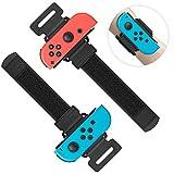 Bandas de muñeca para Just Dance 2021 2020 2019 para Nintendo Switch Controller Game, cómoda correa elástica ajustable para mando Joy-Cons, dos tamaños para adultos y niños, 2 unidades (negro)