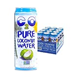 C2O Pure Coconut Water – Non GMO, Plant Based, Essential Electrolytes, No Added Sugar – 17.5 FL OZ (Pack of 12)