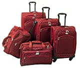American Flyer Luggage Madrid 5 Piece Spinner Set, Red, One Size