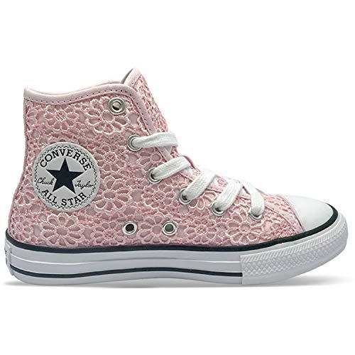 Converse Chuck Taylor All Star Hi Daisy Crochet Rosa/Blanco (Arctic Pink/White) Poliéster 35½ EU