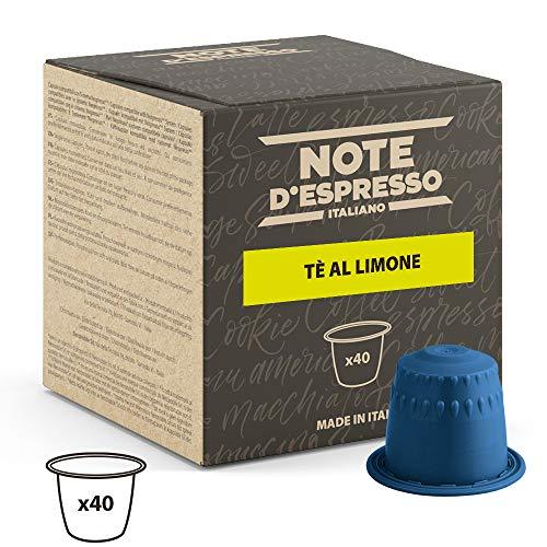 Note DEspresso Capsulas de Te, Limon - 40 Unidades da 8g, Total: 320 g Exclusivamente Compatible con cafeteras Nespresso*