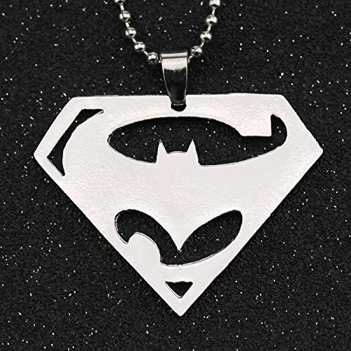 guodong Collar Colgante Pulido Color Plata DC Comics Justice